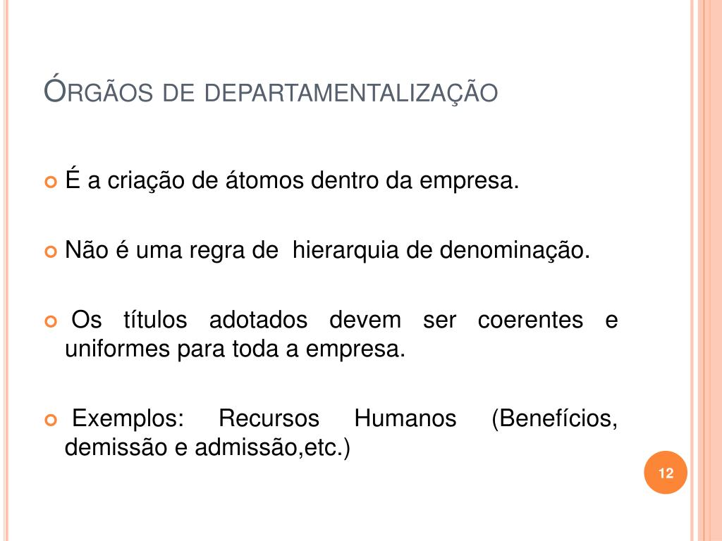 Órgãos de departamentalização