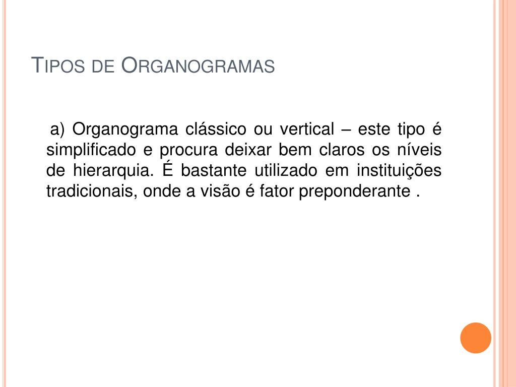 Tipos de Organogramas