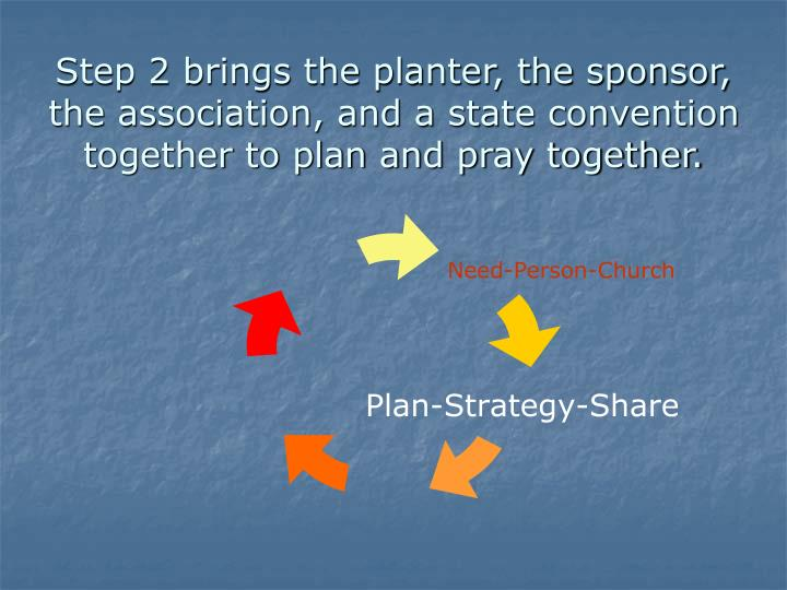 Step 2 brings the planter, the sponsor, the association, and a state convention together to plan and...