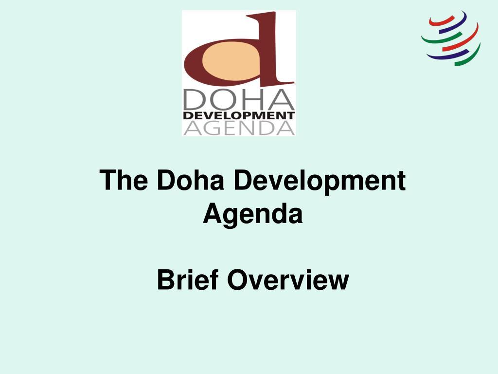 the doha development agenda brief overview l.