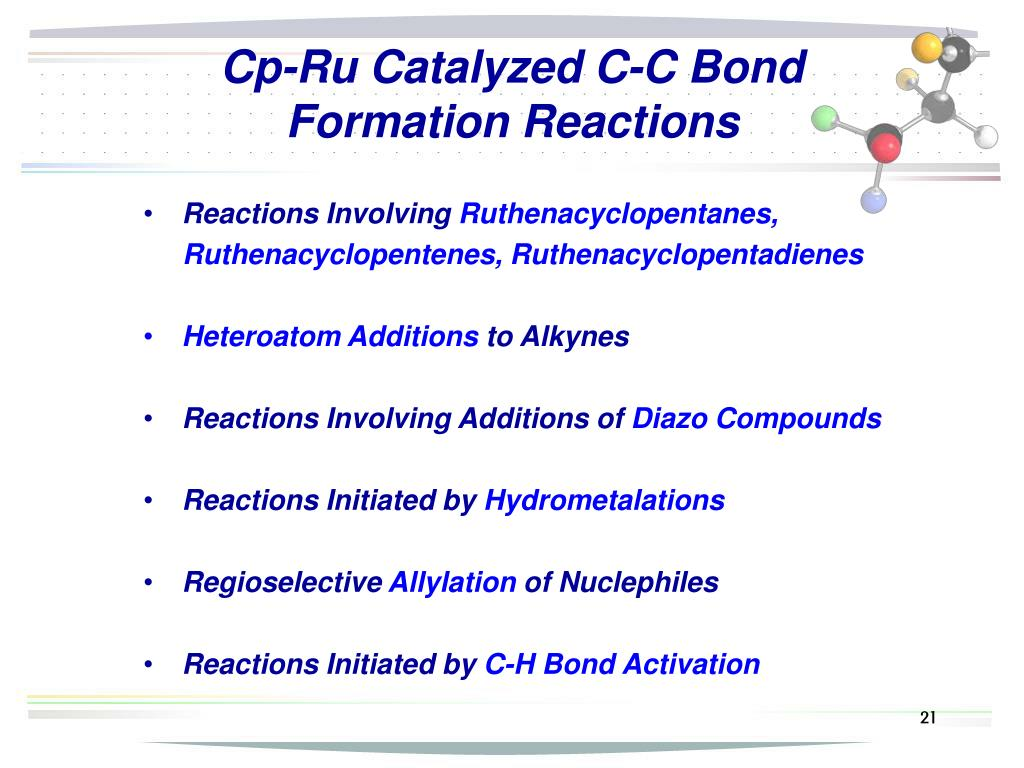 Cp-Ru Catalyzed C-C Bond