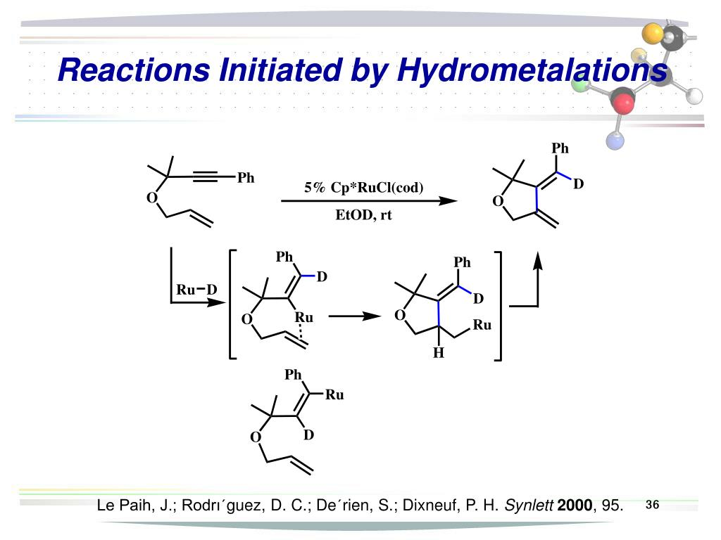 Reactions Initiated by Hydrometalations