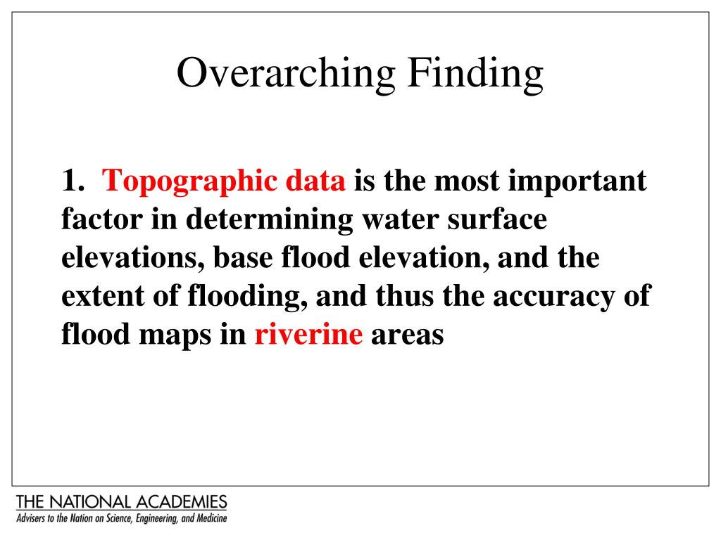 Overarching Finding