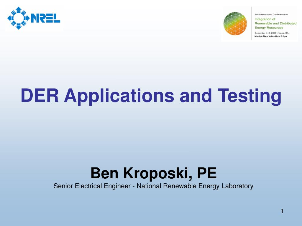 der applications and testing l.