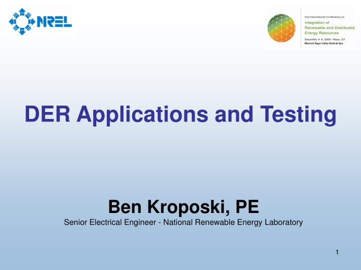 der applications and testing n.