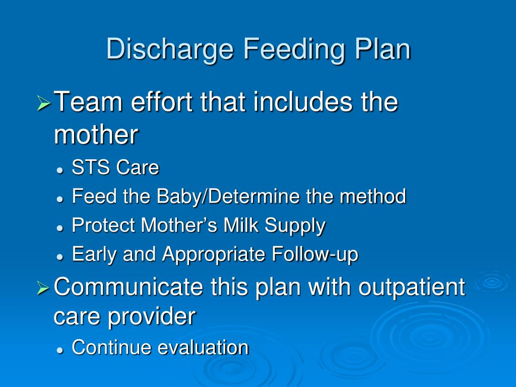 Discharge Feeding Plan