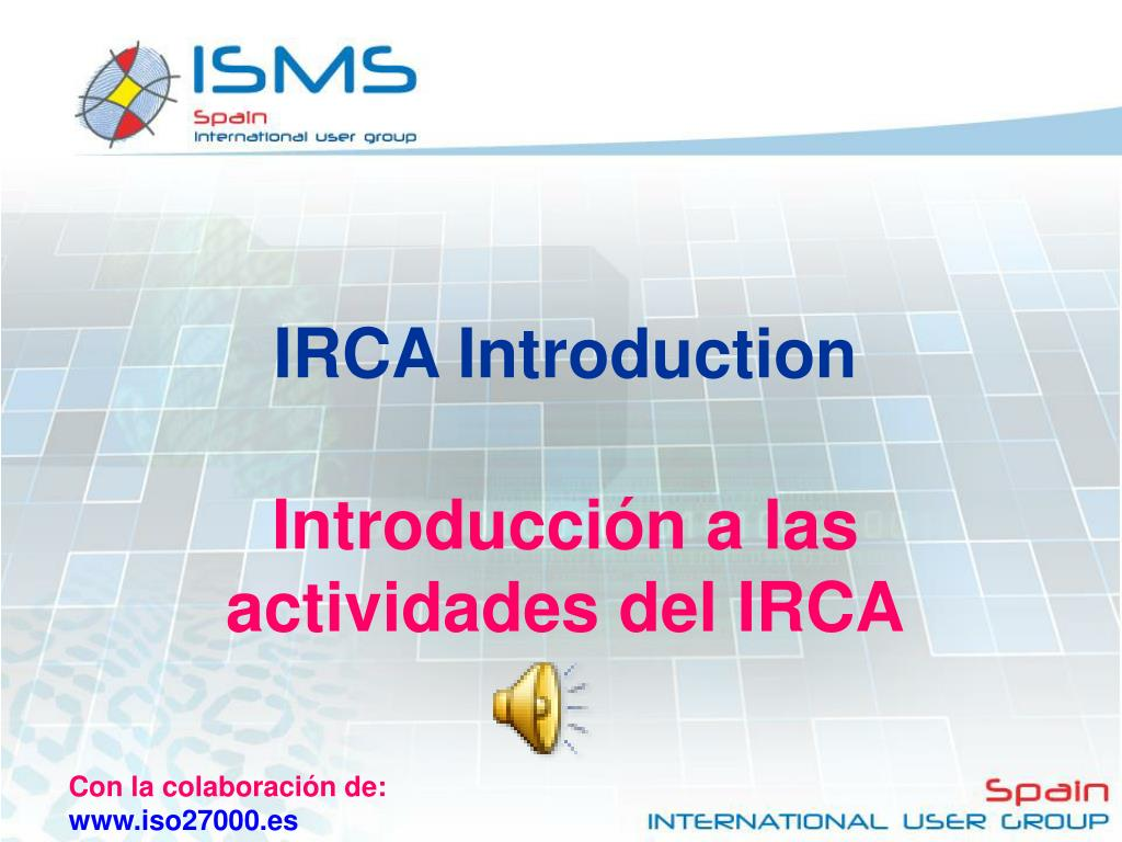 IRCA Introduction