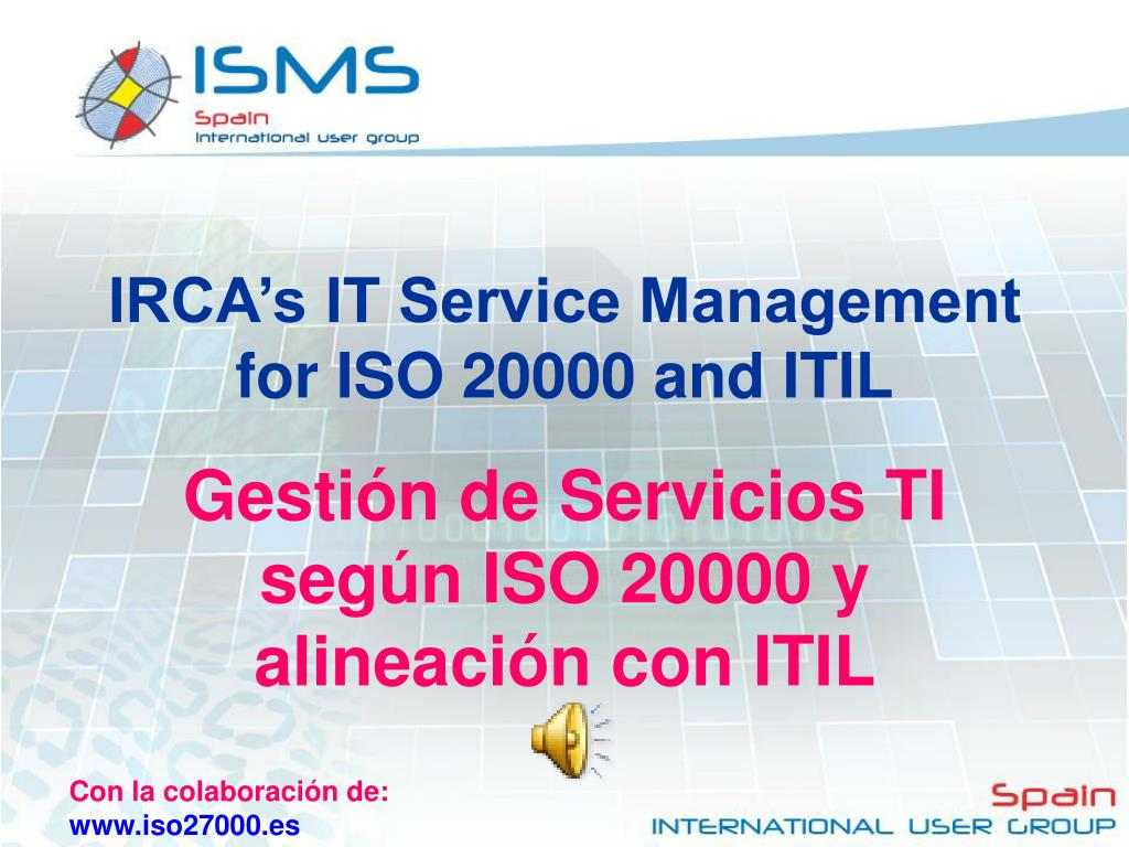IRCA's IT Service Management for ISO 20000 and ITIL