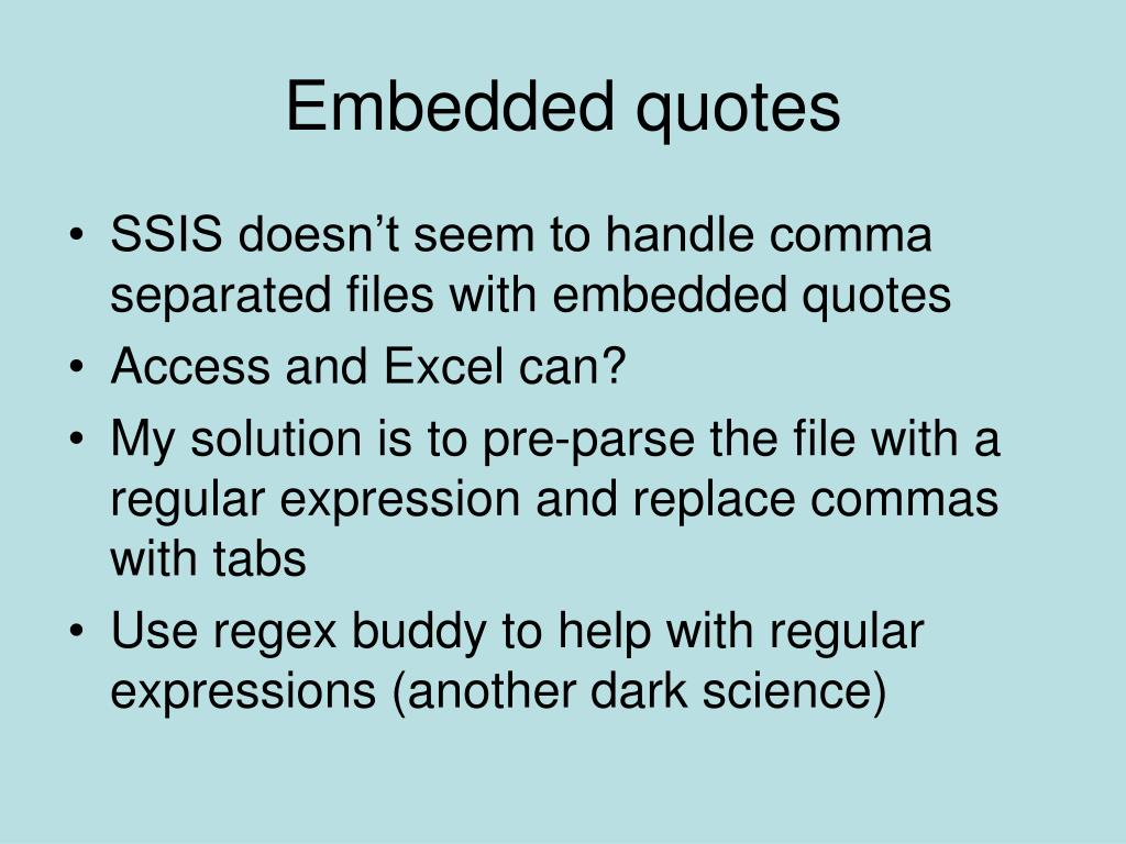 Embedded quotes