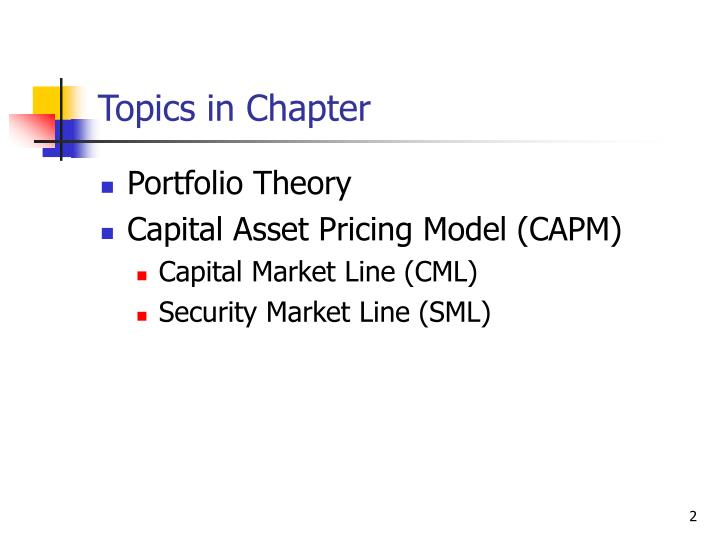 portfolio theory and the capital asset William sharpe's influential portfolio theory and capital management is as relevant today as when it was first published in 1970 mcgraw-hill is proud to reintroduce tiffs hard-to-find classic in its original edition dr sharpe's groundbreaking approach to the capital asset pricing model (capm.