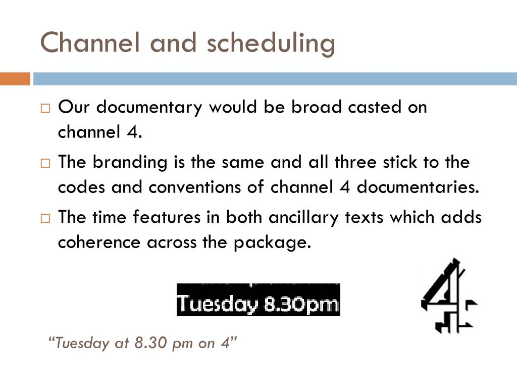 Channel and scheduling