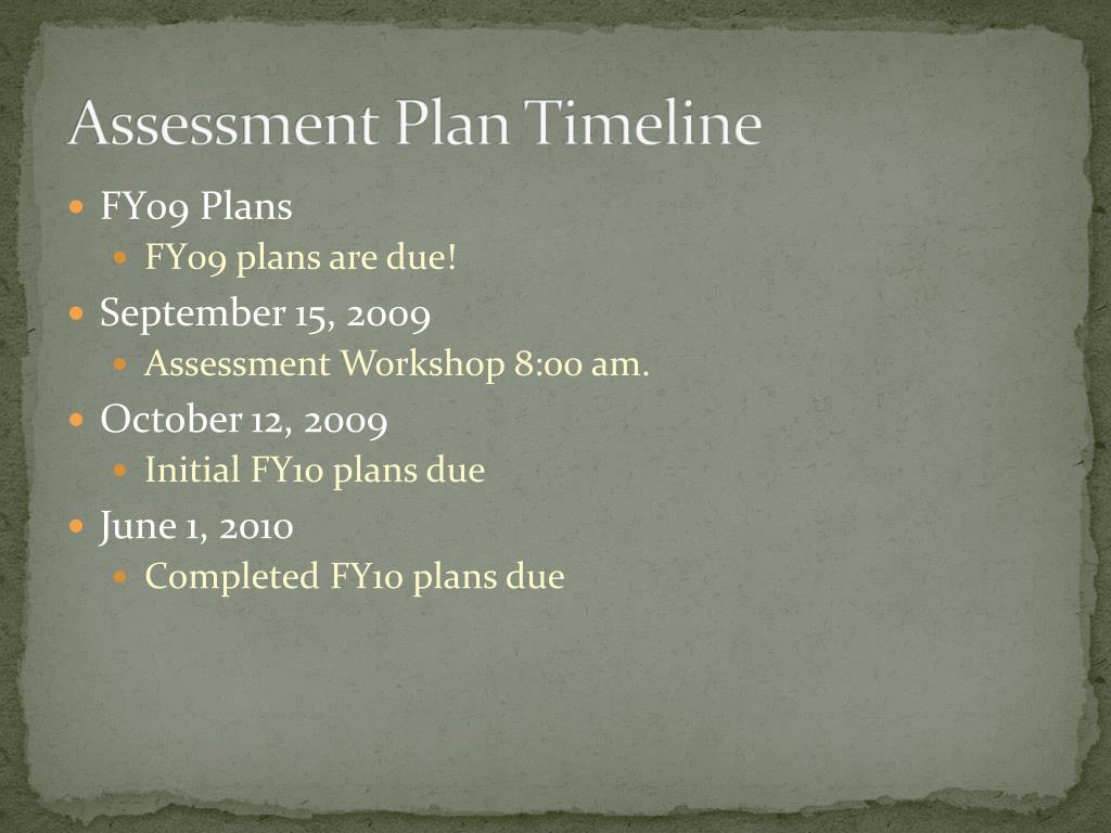 Assessment P