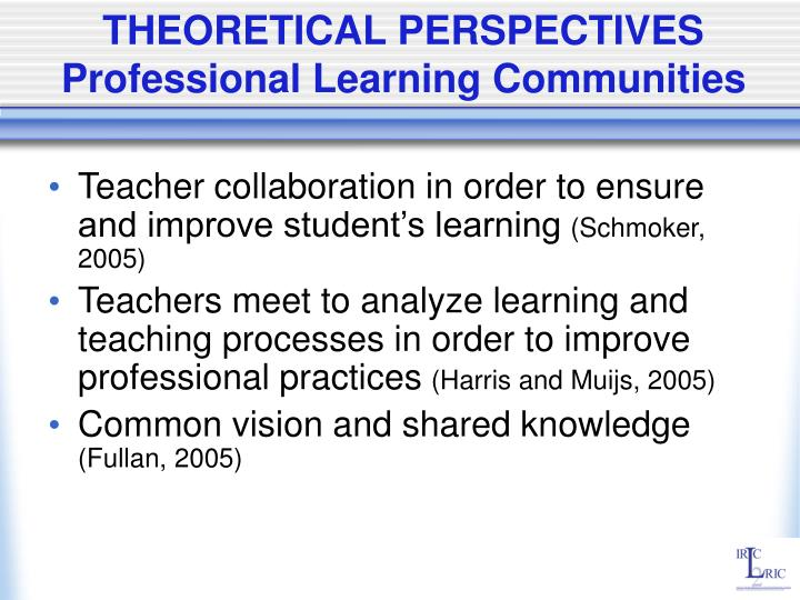 professional learning communities essay The notion of professional learning communities (plcs) as a viable  the  dialogic imagination: four essays, austin : university of texas.