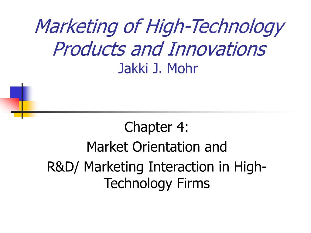 marketing of high technology products and innovations jakki j mohr l.