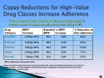 copay reductions for high value drug classes increase adherence