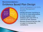 recommendations evidence based plan design