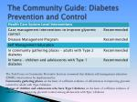 the community guide diabetes prevention and control