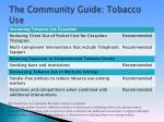 the community guide tobacco use