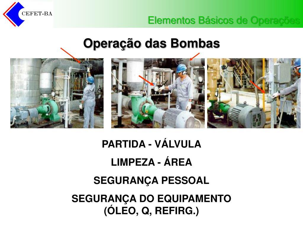 Operação das Bombas