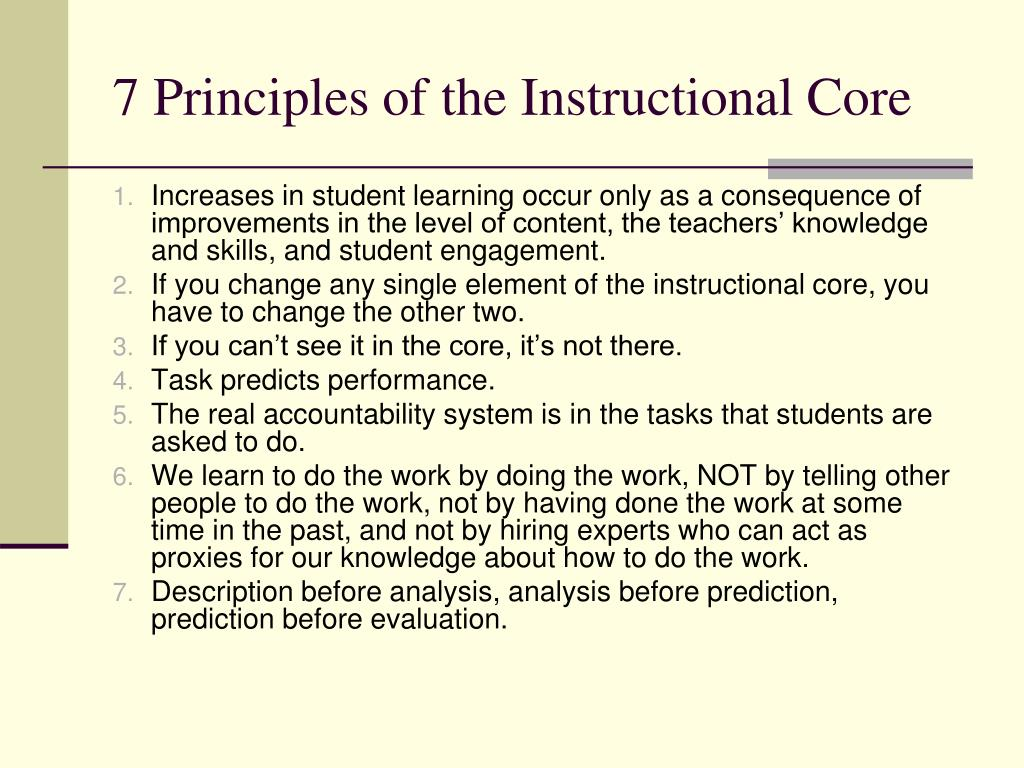 7 Principles of the Instructional Core