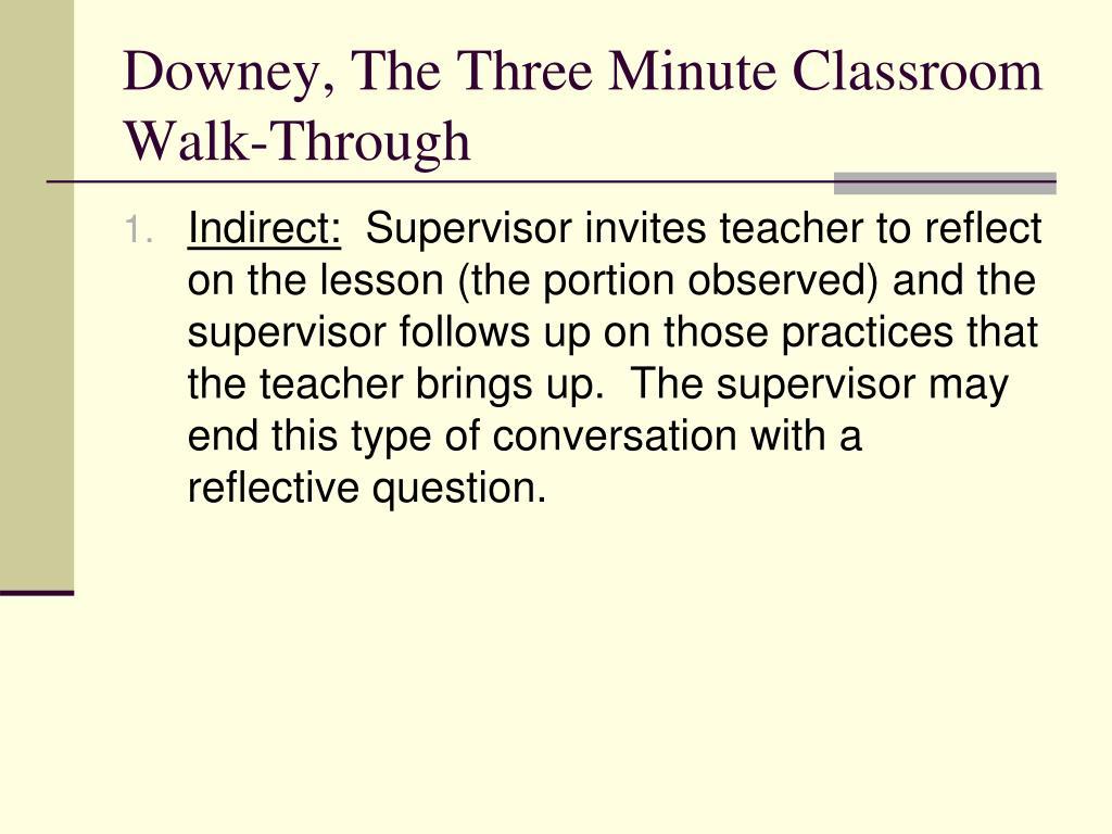 Downey, The Three Minute Classroom Walk-Through