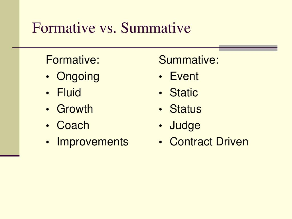 Formative:
