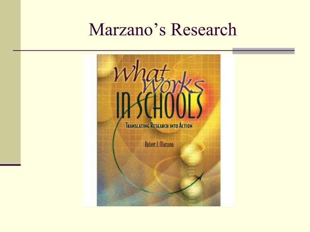 Marzano's Research