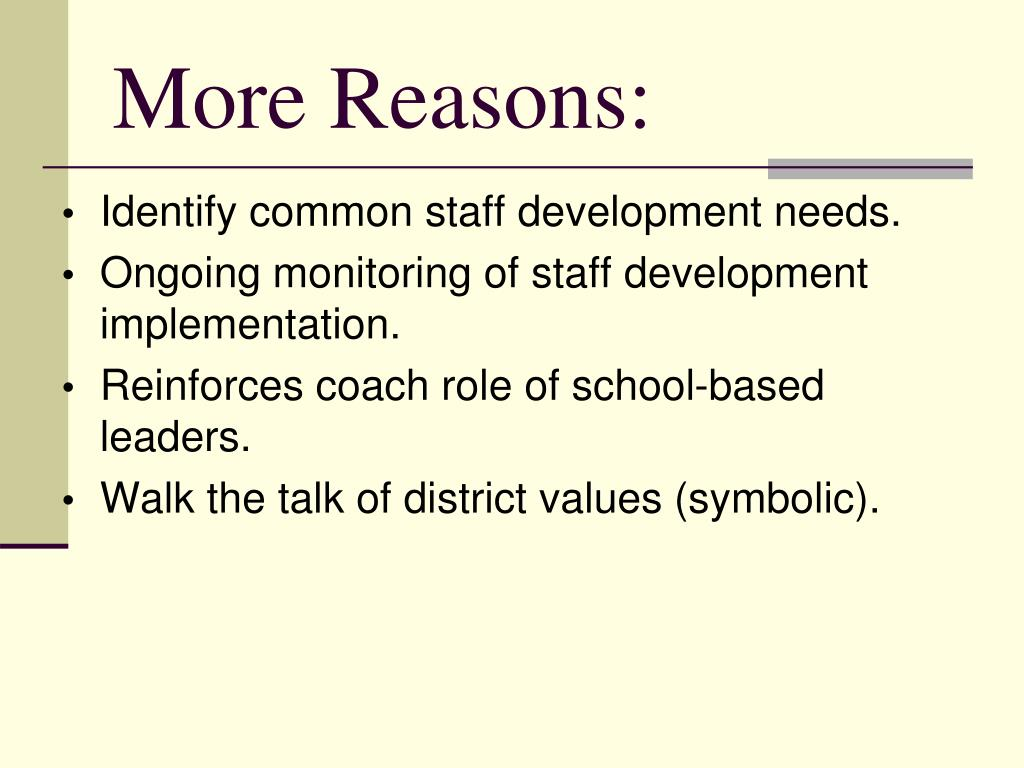 More Reasons: