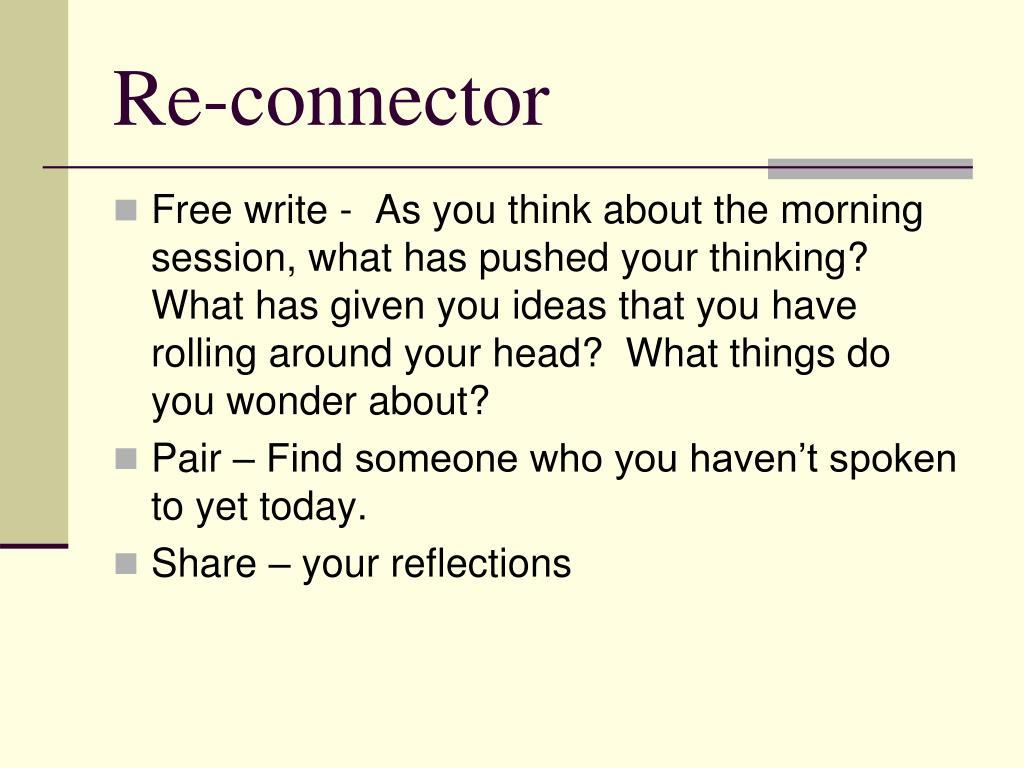 Re-connector