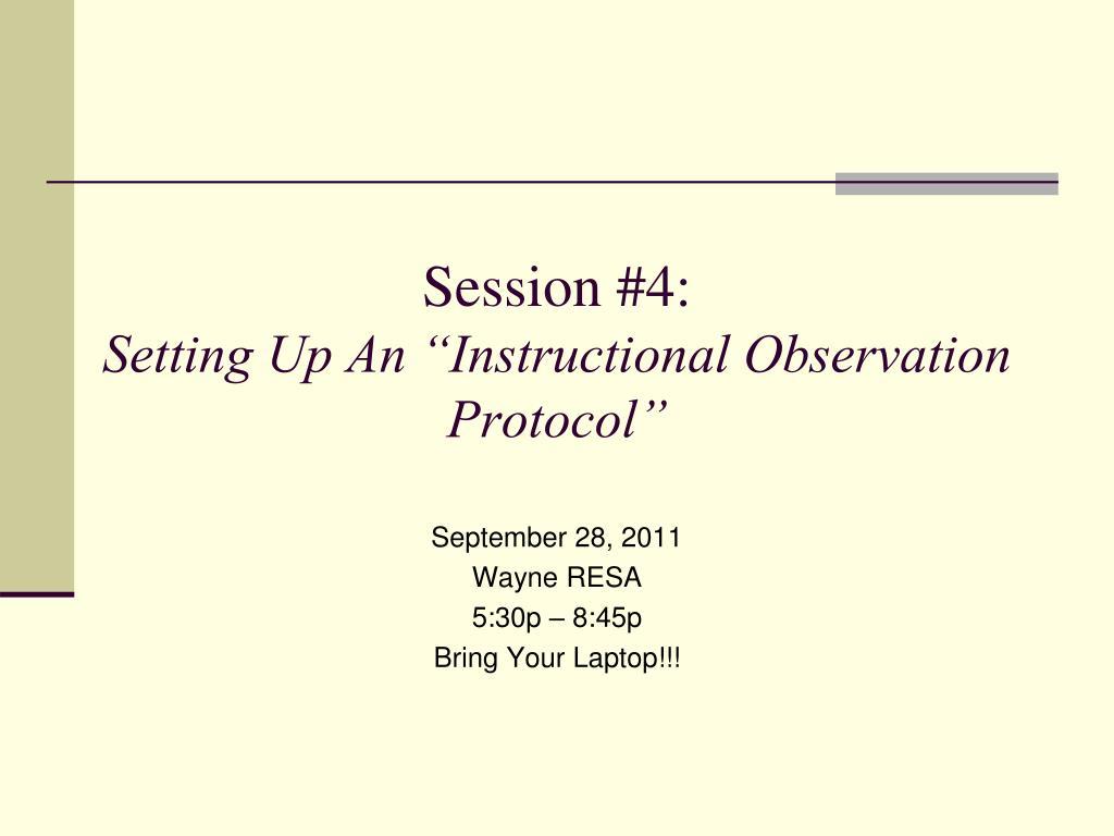 Session #4: