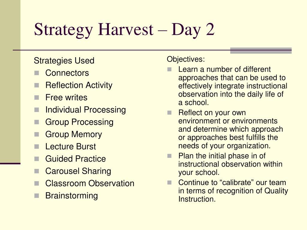 Strategies Used