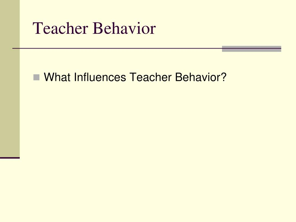 Teacher Behavior