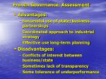 french governance assessment