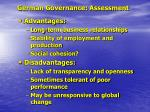 german governance assessment