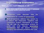 organisational economics