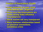 practice of governance russia