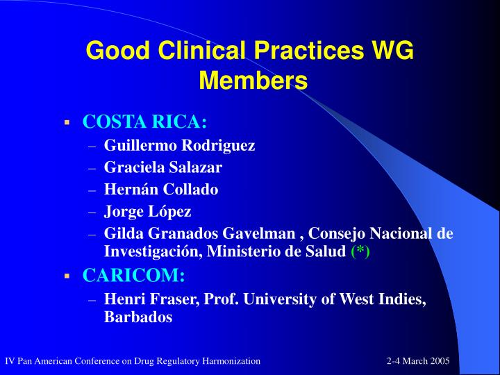 Good clinical practices wg members3
