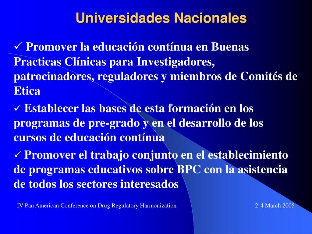 Universidades Nacionales