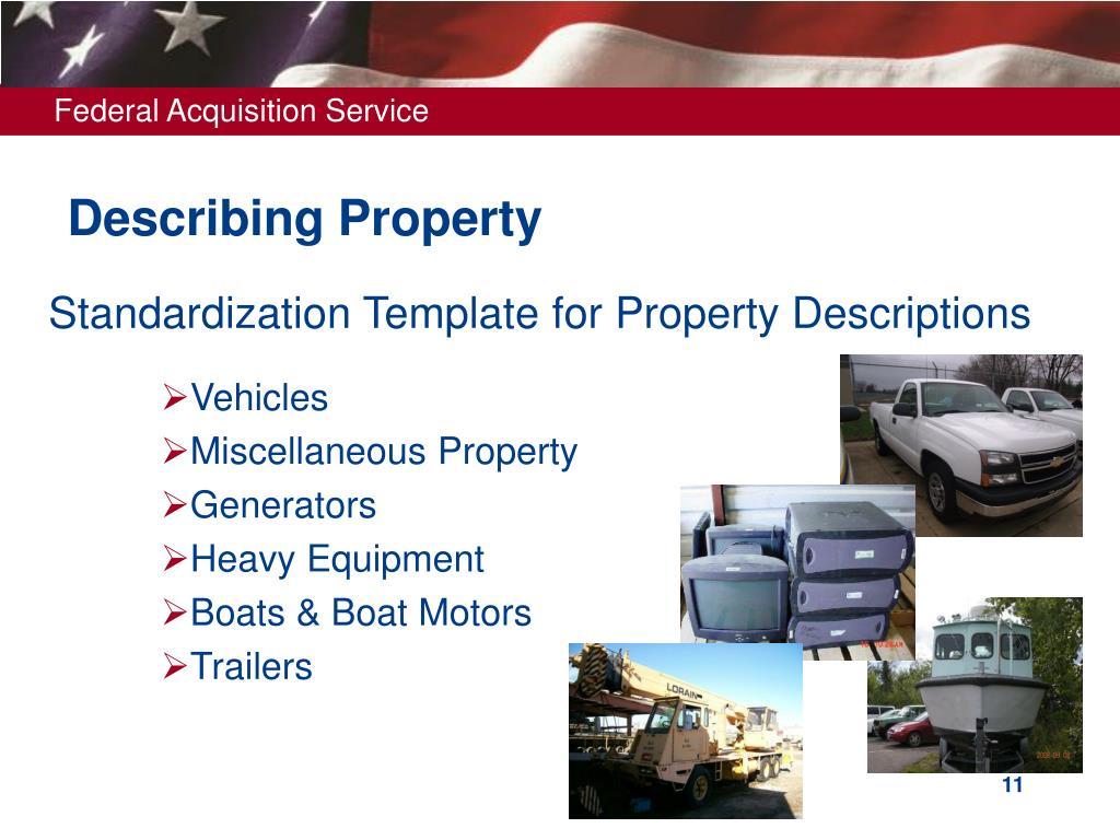 Describing Property