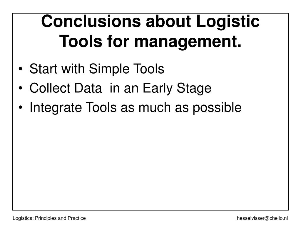 Start with Simple Tools