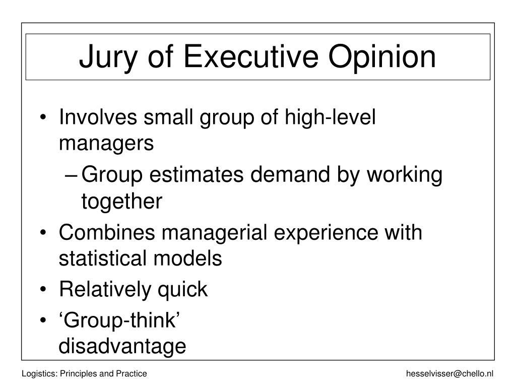 Jury of Executive Opinion
