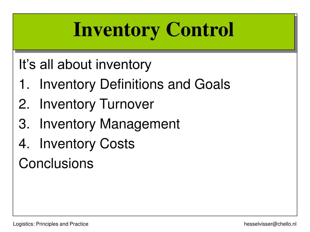 It's all about inventory