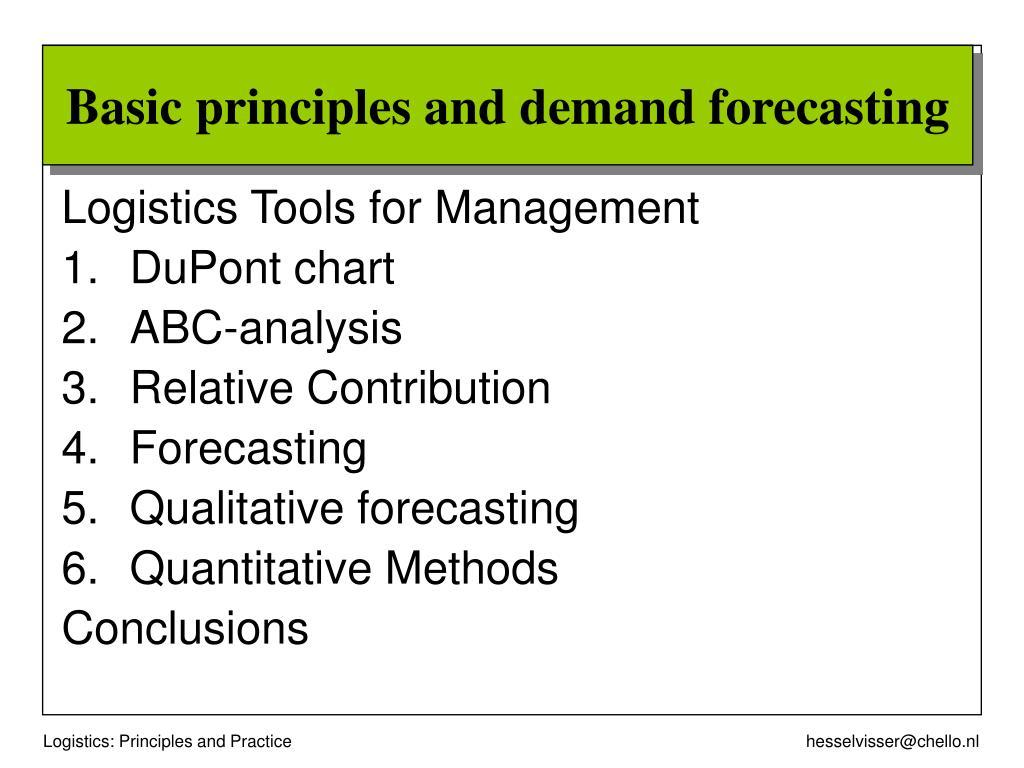Logistics Tools for Management