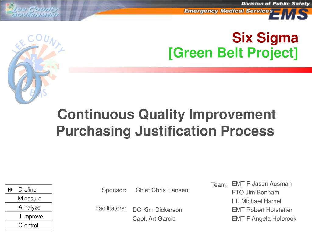 PPT - Six Sigma [Green Belt Project] PowerPoint Presentation