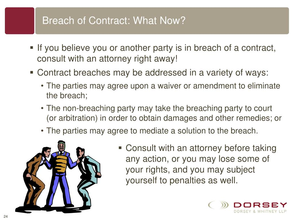 Breach of Contract: What Now?