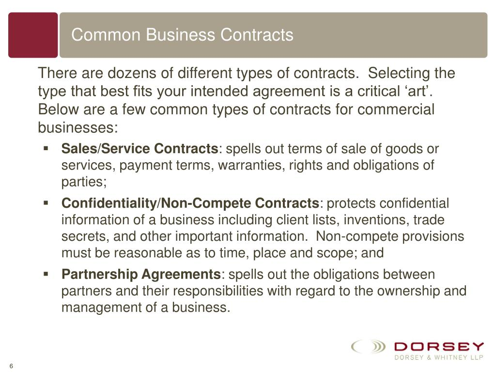 Common Business Contracts