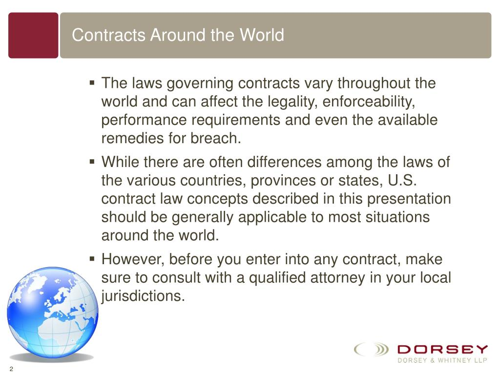 Contracts Around the World