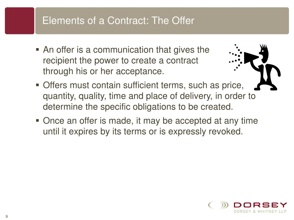Elements of a Contract: The Offer