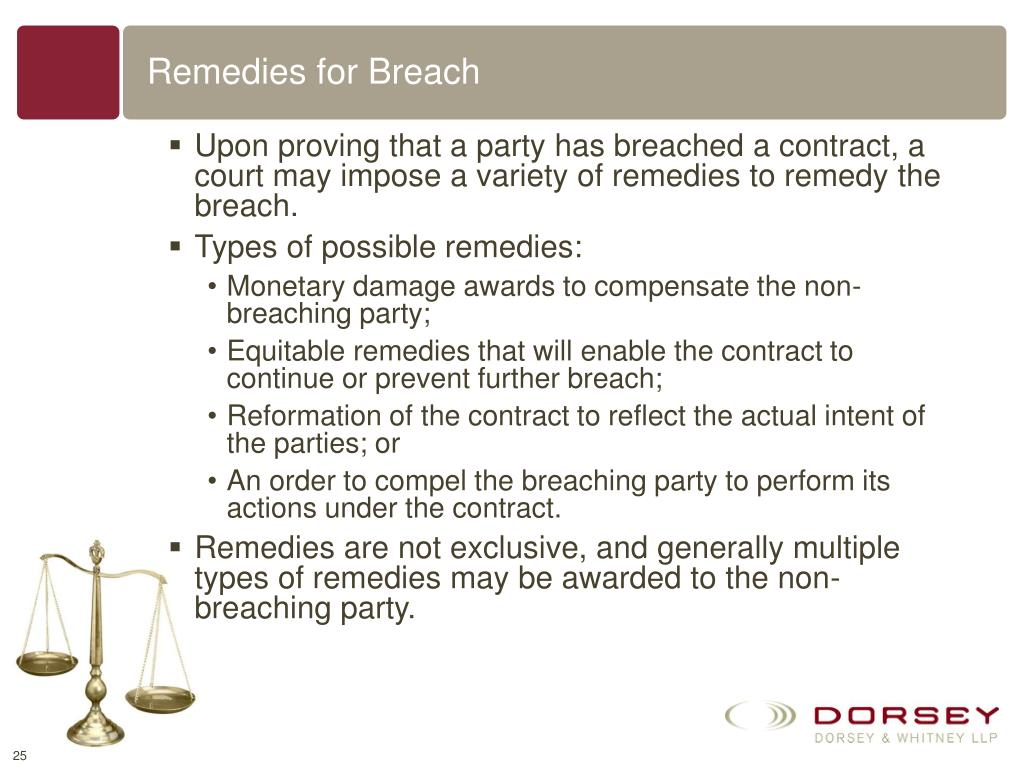 Remedies for Breach