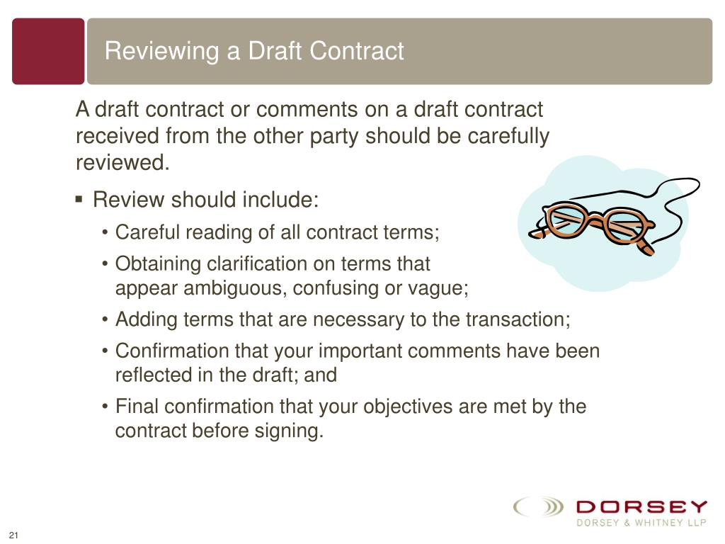 Reviewing a Draft Contract